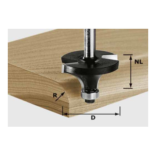 Festool Abrundfräser HW Schaft 8 mm HW S8 D22,7/R5 KL