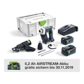 Festool Akku-Bauschrauber DWC 18-4500 Li 5,2-Plus DURADRIVE