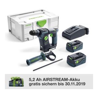 Festool Akku-Bohrhammer BHC 18 Li 5,2 Ah I-Plus