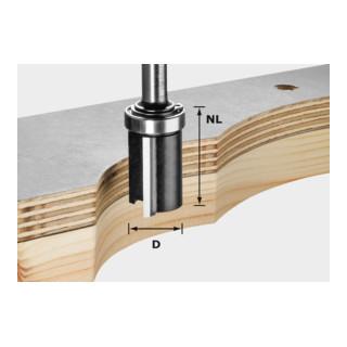Festool Bündigfräser HW Schaft 8 mm D19/NL25 (mit Anlaufkugellager)