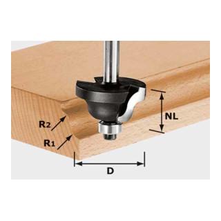 Festool Doppelradienfräser HW Schaft 8 mm HW S8 D31,7/R4/R4