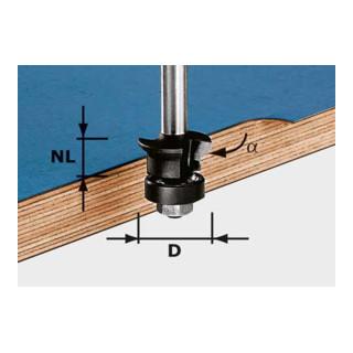 Festool Fase-Bündigfräser HW Schaft 8 mm HW S8 D24/0° +45°