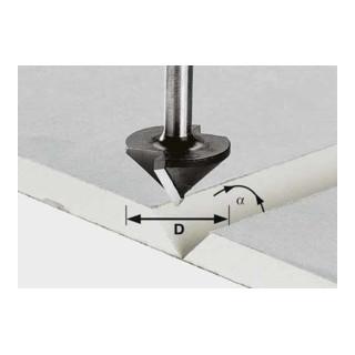 Festool Gipskartonfräser HW Schaft 8 mm HW S8 D12,5/45°