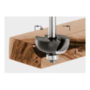 Festool Hohlkehlfräser HW Schaft 8 mm (mit Anlaufkugellager)