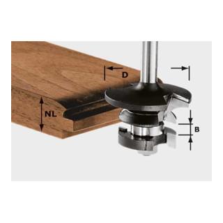 Festool Konterprofilfräser Feder HW Schaft 8 mm HW S8 D43/21 A/KL