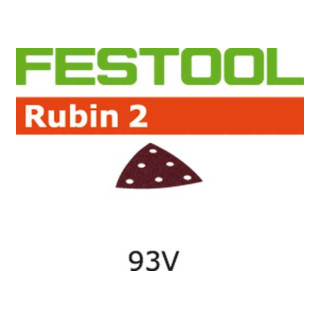 Festool Schleifblätter STF 93V/6 P80 RU2/50 Rubin 2