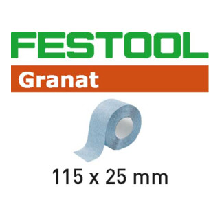Festool Schleifrolle 115x25m P120 GR Granat
