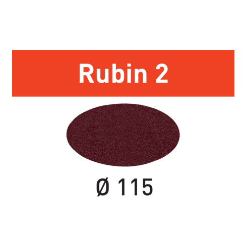Festool Schleifscheiben STF D115 RU2/50 Rubin 2