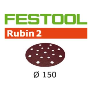 Festool Schleifscheiben STF D150/16 P150 RU2/10 Rubin 2