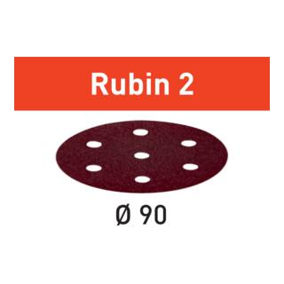 Festool Schleifscheiben STF D90/6 P120 RU2/50 Rubin 2