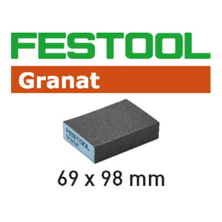 Schleifschwamm 69x98x26 120 GR/6 Granat