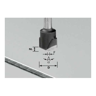 Festool V-Nutfräser HW Schaft 8 mm HW S8 D18-135° (Alu)