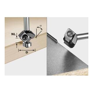 Festool Wendeplatten-Fasefräser HW S8 HW 45° D27 12x12 KL