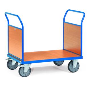 fetra Doppel-Stirnwandwagen bis 600 kg, mit Stirnwänden aus Holz