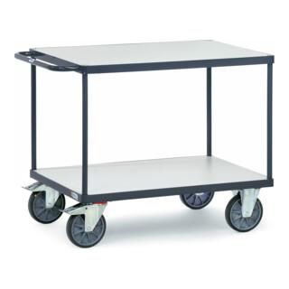 fetra ESD-Tischwagen bis 600 kg, mit 2 Böden, elektrisch leitfähige Ausführung