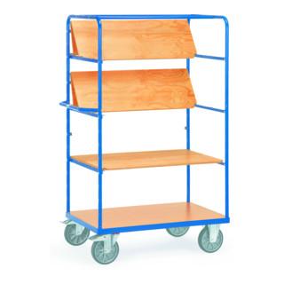 Fetra Etagenwagen mit 3 faltbaren und 1 festen Etagenboden