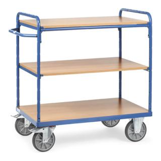 fetra Etagenwagen, TPE-Reifen, 1 fester und 2 Einlegeböden