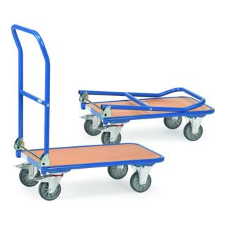 fetra Klappwagen, Tragkraft 250 kg, TPE-Reifen, klappbarer Schiebebügel