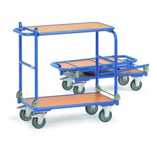 fetra Klappwagen, Tragkraft 250kg, TPE-Reifen, 2 klappbare Bügel, klappbare Tischplattform