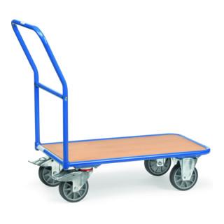 fetra Magazinwagen, Tragkraft 250kg, TPE-Reifen, 1 Schiebebügel