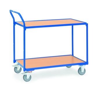 Fetra Tischwagen mit einseitig hochstehendem Griff