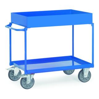 Fetra Tischwagen mit Blechwanne und hohem Rand