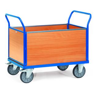 fetra Vierwandwagen, TPE-Reifen, bis 600 kg, mit 4 Wänden aus Drahtgitter