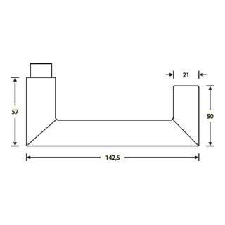 Feuerschutz-Garnitur 79 1016 Wechsel-Grt.VA feinmatt 6204 Türstärke 46-55mm