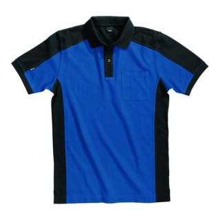 FHB Poloshirt Konrad 91490 königsblau/schwarz