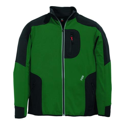 FHB RALF Jersey-Fleece-Jacke FHB Fastdry grün-schwarz Gr. L