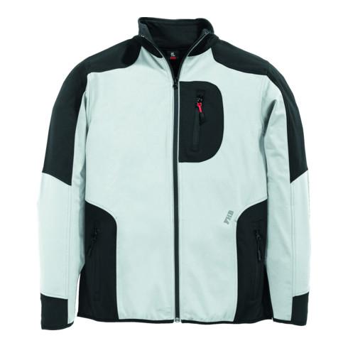 FHB RALF Jersey-Fleece-Jacke FHB Fastdry weiß-anthrazit Gr. XL