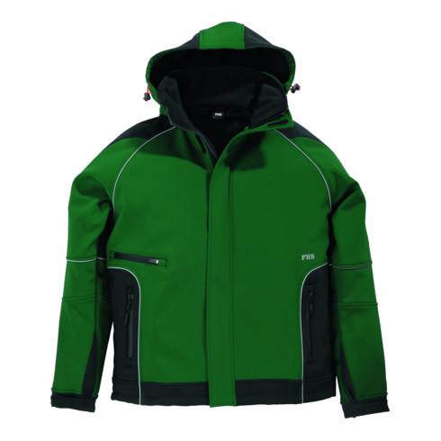 FHB WALTER Softshell-Jacke grün-schwarz Gr. M