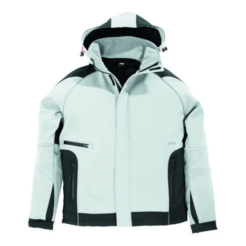 FHB WALTER Softshell-Jacke weiß-anthrazit Gr. XL