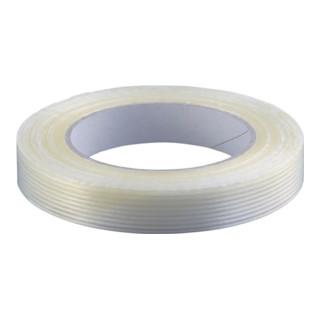 Filamentband L.50m B.25mm transp. PP-Folie glasfaserverstärkt