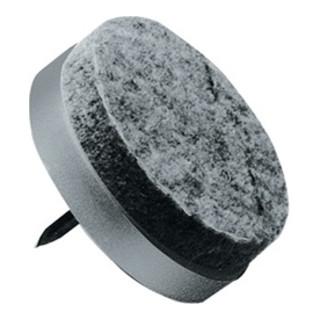 Filzbodengleiter 24mm Ku.Wollfilz grau m.Stift