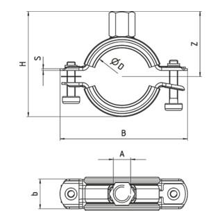 fischer FRS-L Universal 16-19 Rohrschelle