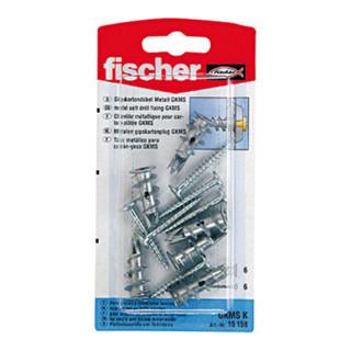 Fischer Gipskartondübel Metall GKM m. Schraube Blisterkarte