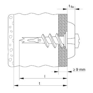 fischer Metall-Gipskartondübel GKM