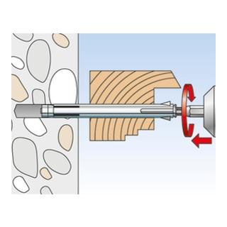 fischer Metallrahmendübel F M mit Senkkopfschraube PZ