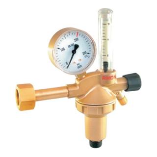 Flaschendruckminderer m.Flowmeter-200W21,8x1/14Zoll RH Argon/Co2 30l/min