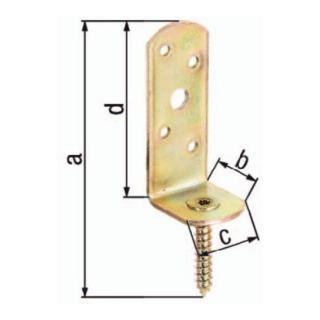 Flechtzaunhalter 115x31,5x30x75mm Stahl roh galv. gelb verz. L-Form GAH
