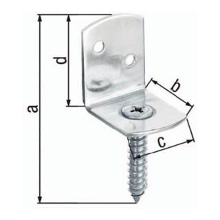 Flechtzaunhalter 83x32x30x38mm TZN L-Form GAH