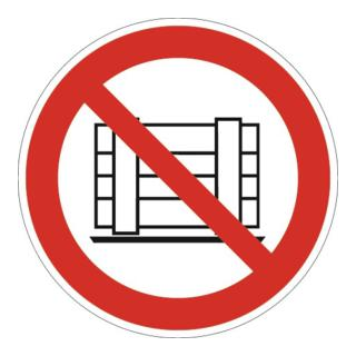 Folie Abstellen o. Lagern verboten D200mm rot/schwarz ASR A1.3 DIN EN ISO 7010