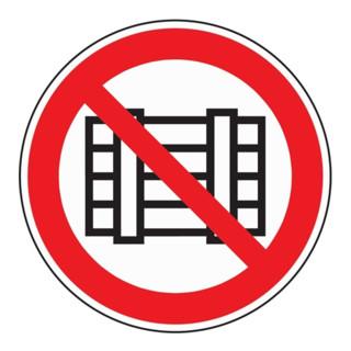 Folie Abstellen o. Lagern verboten D200mm rot/schwarz selbstklebend