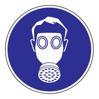 Folie Atemschutz benutzen D.200mm blau/weiß selbstklebend