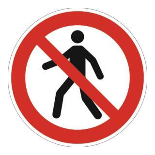 Folie Fußgänger verboten D200mm Ku. rot/schwarz ASR A1.3 DIN EN ISO 7010