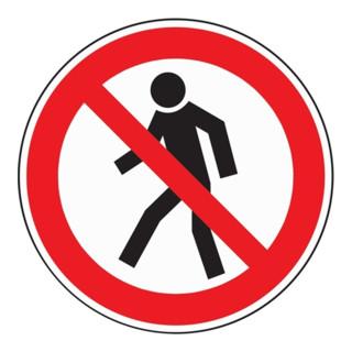 Folie Fußgänger verboten D200mm Kunststoff rot/schwarz selbstklebend