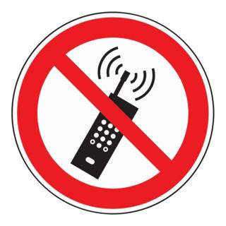 Folie Mobilfunk verbot. D200mm rot/schwarz selbstklebend