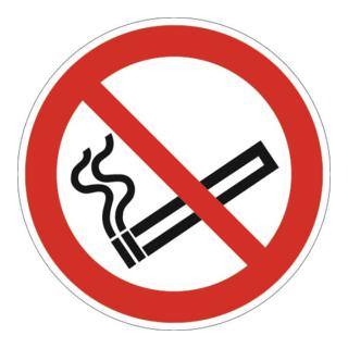Folie Rauchen verboten D200mm rot/schwarz ASR A1.3 DIN EN ISO 7010