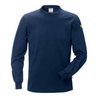 Fristads ESD T-Shirt Langarm 7082 XTM Dunkelblau (Herren)